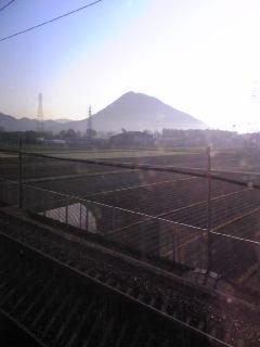 東海道新幹線の南側窓から見える富士山(1)